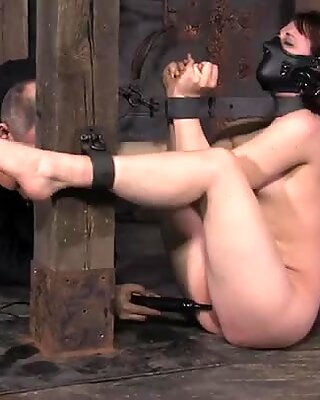 Horn-mad stud polishes poor hoe Bronte with a dildo in the BDSM way