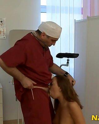 Hairy gyno tricks a slut into fucking