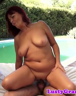 Busty granny screwed by her partner