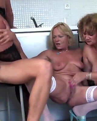 Young boy fucks 3 sexy MOM mom and MOM