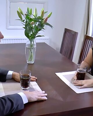 AgedLovE Businessman Came to Fuck Busty Mature